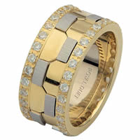 Item # 68740101DE - Two-Tone Diamond Eternity Ring