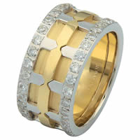 Item # 6874101DE - 18 Kt Two-Tone Diamond Eternity Ring