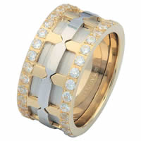 Item # 6874110DE - Two-Tone Diamond Eternity Ring