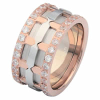Item # 6874120DRE - 18K Rose & White Gold Diamond Eternity Ring