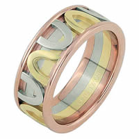Item # 68743210 - 14 K Tri-Color Wedding Ring