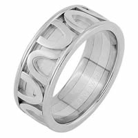 Item # 68743210W - 14 K White Gold Wedding Ring