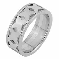 Item # 68744210WE - 18 Kt White Gold Wedding Ring