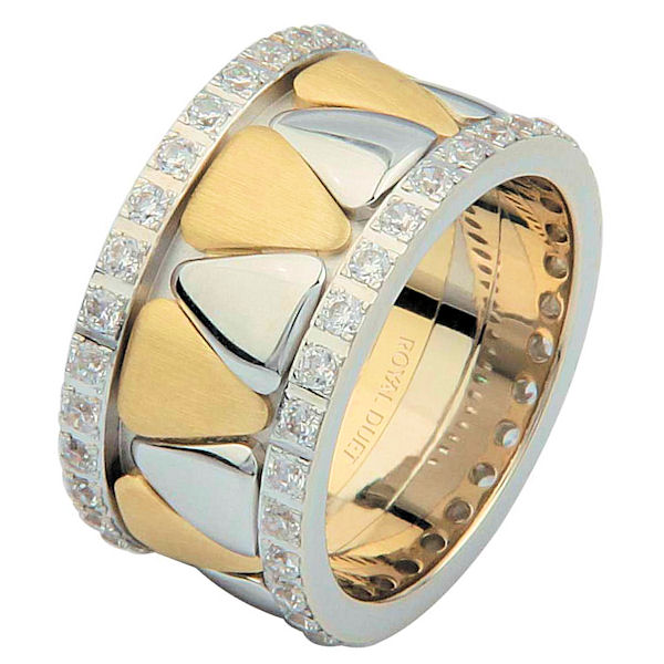 Item # 68746010DE - Two-Tone Diamond Eternity Ring View-1