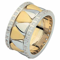 Item # 68746010D - Two-Tone Diamond Eternity Ring