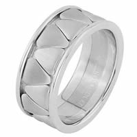 Item # 68746120WE - 18 Kt White Gold Wedding Ring