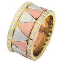 Item # 68746120DE - Tri-Color Diamond Eternity Ring