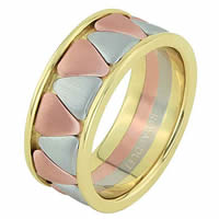 Item # 68746120E - 18 Kt Tri-Color Wedding Ring