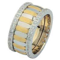 Item # 68747010DE - Two-Tone Diamond Eternity Ring