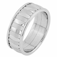 Item # 68747010WE - 18 Kt White Gold Wedding Ring