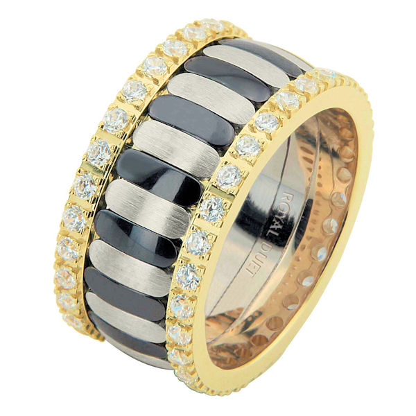Two-Tone & Black Rhodium Diamond Eternity Ring