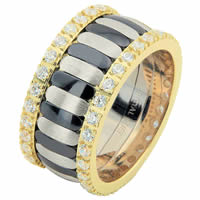 Item # 68747103D - Two-Tone & Black Rhodium Diamond Eternity Ring