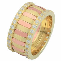 Item # 68747121D - 14 K Rose & Yellow Diamond Eternity Ring
