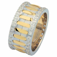 Item # 6874801D - 14 K Two-Tone Diamond Eternity Ring