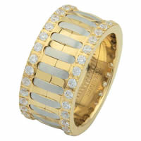 Item # 6874810DE - Two-Tone Diamond Eternity Ring