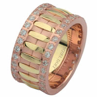 Item # 6874821D - 14 K Rose & Yellow Gold Diamond Eternity Ring