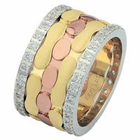 Item # 68749012DE - Tri-Color Diamond Eternity Ring