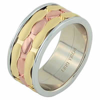 Item # 68749012E - 18 Kt Tri-Color Wedding Ring