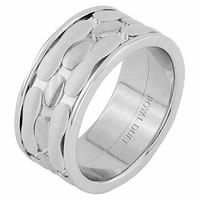 Item # 68749012WE - 18 Kt White Gold Wedding Ring