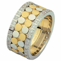 Item # 68750010DE - Two-Tone Diamond Eternity Ring
