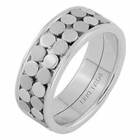 Item # 68750102WE - 18 Kt White Gold Wedding Ring