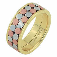 Item # 68750102E - 18 Kt Tri-Color Wedding Ring
