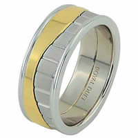 Item # 68752010E - 18 Kt Two-Tone Wedding Ring