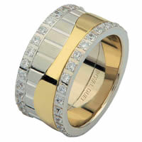 Item # 68752010DE - Two-Tone Diamond Eternity Ring