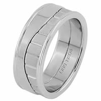Item # 68752010WE - 18 Kt White Gold Wedding Ring
