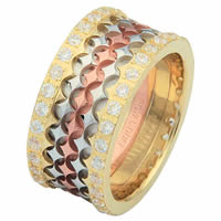 Item # 68753102D - 14 K Tri-Color Diamond Eternity Ring