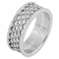Item # 68753201WE - 18 Kt White Gold Wedding Ring