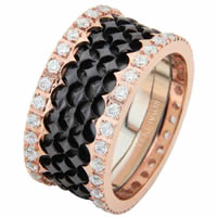 Item # 68753232DR - Rose Gold & Black Rhodium Diamond Eternity Ring