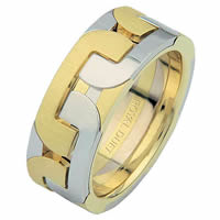Item # 687551010E - 18 Kt Two-Tone Wedding Ring