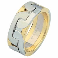 Item # 68755101E - 18 Kt Two-Tone Wedding Ring