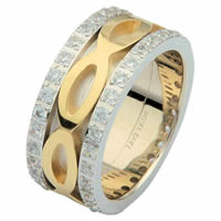 Item # 6875601D - 14 K Two-Tone Diamond Eternity Ring