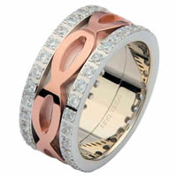 Item # 6875602DR - 14 K Rose & White Gold Diamond Eternity Ring