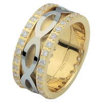 Item # 6875610D - 14 K Two-Tone Diamond Eternity Ring