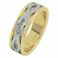 Item # 6875610E - 18 Kt Two-Tone Wedding Ring