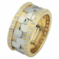 Item # 6875710D - 14 K Two-Tone Diamond Eternity Ring