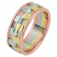 Item # 68757210E - 18 Kt Tri-Color Wedding Ring