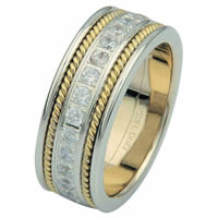 Item # 6875801D - 14 K Two-Tone Diamond Eternity Ring