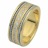 Item # 6875810D - 14 K Two-Tone Diamond Eternity Ring