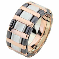 Item # 68760320 - White-Rose Gold Black Rhodium Wedding Ring