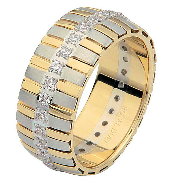 Item # 68761010D - 14 K Two-Tone Diamond Eternity Ring View-1