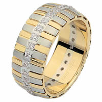 Item # 68761010D - 14 K Two-Tone Diamond Eternity Ring