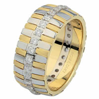 Item # 68761101D - 14 K Two-Tone Diamond Eternity Ring
