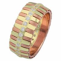 Item # 68761212D - 14 K Yellow & Rose Gold Diamond Eternity Ring