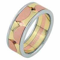 Item # 68762012E - 18 Kt Tri-Color Wedding Ring
