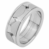 Item # 68762012W - 14 Kt White Gold Wedding Ring
