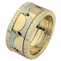 Item # 68762101D - 14 K Two-Tone Diamond Eternity Ring